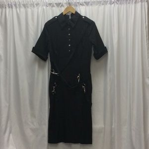 Vintage Lip Service Gangsta Pranksta Bondage Dress